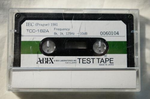 ABEX Frequency Response Test Tape TCC-182A,  8k/1k/125Hz New