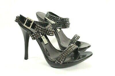 Claudio Milano Mujer Zapatos de Cuero Cristal Talla 35 Italia #25