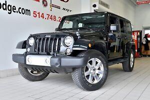 2015 Jeep WRANGLER SAHARA 4 PORTES GPS SIEGES CHAUFFANT