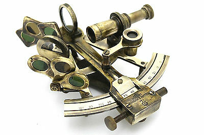 Brass Ship Sextant - Brass Marine Sextant - London