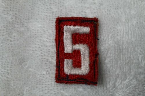 BSA TROOP UNIT NUMBER # 5 PATCH - BSA FULLY EMBROIDER VERTICAL 1960