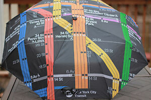 MTA-MASS-TRANSIT-AUTHORITY-NEW-YORK-CITY-RAIN-UMBRELLA-PORT-SUBWAY-MAP