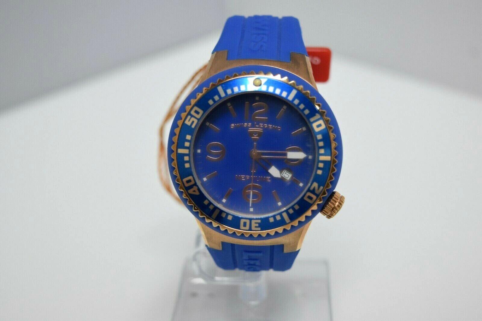 Swiss Legend Swiss Sapphitek 48mm SL-21848P Watch Blue/RG/Blue