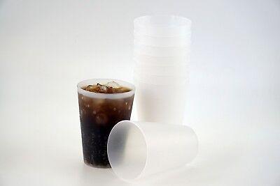 20 Trinkbecher Transparent 0,4 Plastik Mehrwegbecher Partybecher Becher Mehrweg ()