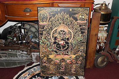 Vintage Hindu Buddhist Print Poster-Religious Spiritual Evil Demonic Gods Black