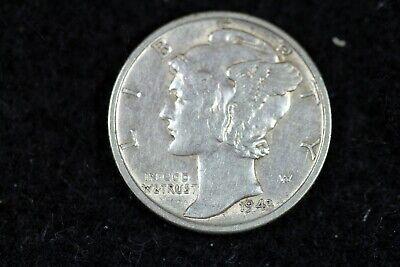 ESTATE FIND 1943 - S Mercury Dime J01972 - $3.00
