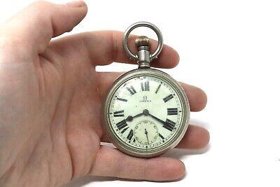 Antique Art Deco C1920's Military Omega Nickel Top Wind Gents Pocket Watch 103g