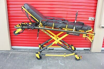 Loaded Stryker Mx-pro 650lb Ambulance Stretcher Brake Straps Gurney Ems Ferno