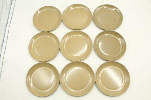 "Vtg set of 9 Boonton Boontonware Melmac Melamine 5 7/8"" Saucers Brown"