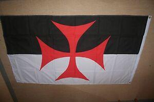 Fahne Flagge  Templerkreuz Kreuzritter  Templer Mittelalter 90 x 150    NEU