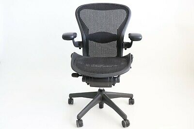 Herman Miller Classic Aeron Chair Size B Medium - Graphite Fully Adjustable