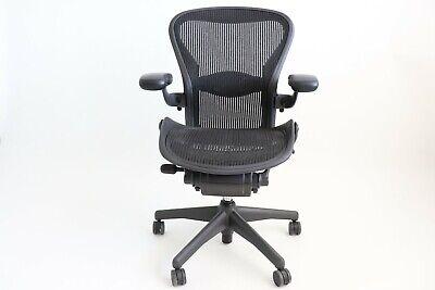 Herman Miller Classic Aeron Chair Size B Medium - Graphite Fully Adjustable