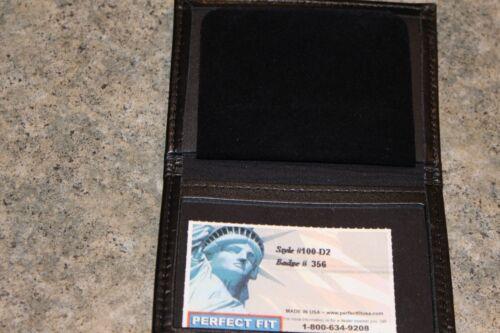 Perfect Fit Bi-Fold Badge Wallet Black 100-D2 Badge #356
