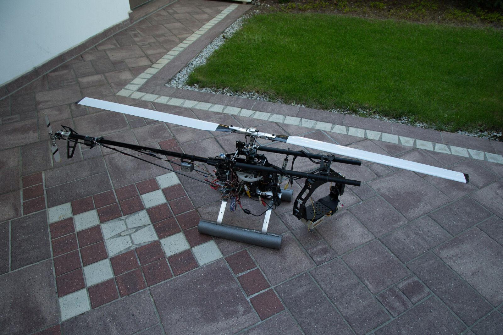 Align Trex 700 RC Heli, A123 Akkus, viel Zubehör und Fotomount