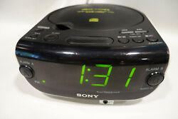 Sony ICF-CD815 Large Display, Dual Alarm AM FM CD Alarm Clock Radio w/ Audio In