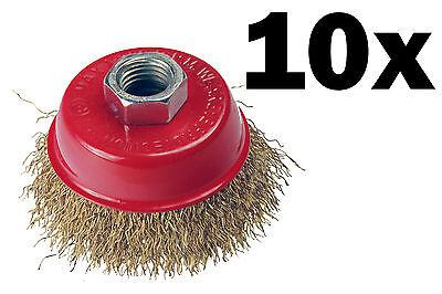 Topfbürste Winkelschleifer Bohrmaschine Kegelbürste Rundbürste M14 für Flex 10 x