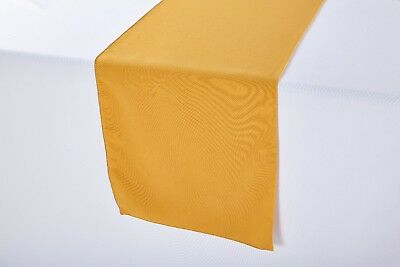 14 x 108 inch Polyester Table Runner Gold ()