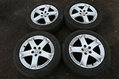 PEUGEOT 407 2004-2010 4 X ALLOY WHEELS WITH TYRES 215/55 R17