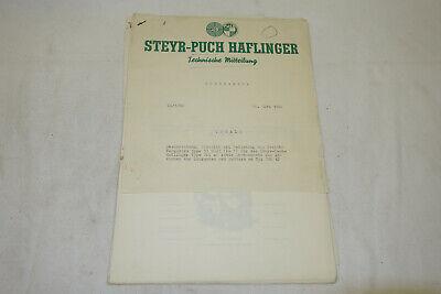 RP872: ÖBH Technische Mitteilungen Steyr Puch Haflinger 1960 SELTEN