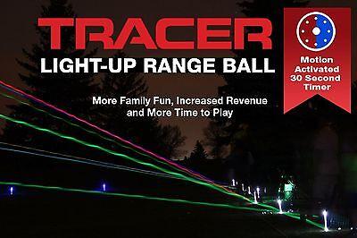 Night Sports Tracer Light Up LED Golf Range Balls x 100 Pack assorted ()