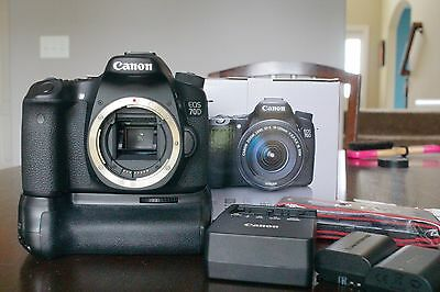 Canon EOS 70D  Digital SLR Camera  (Body Only) . WITH Battery Grip!