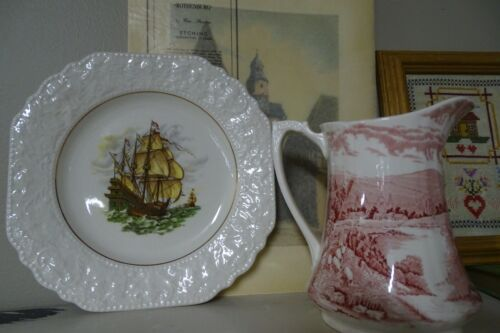Vintage Lord Nelson Pottery Clipper Ship Plate