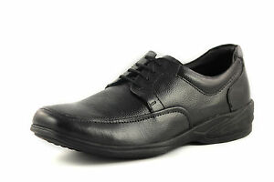 Mens-New-Black-Leather-Formal-Lace-Up-Office-Shoes-Boots-Smart-Size-UK-8-EU-42
