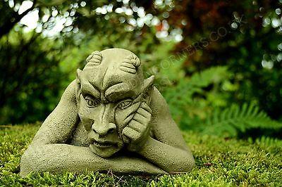 Bill-Garden Ornament-Gargoyle-Sculpture Stone Statue- Home Patio-Decorative Gift