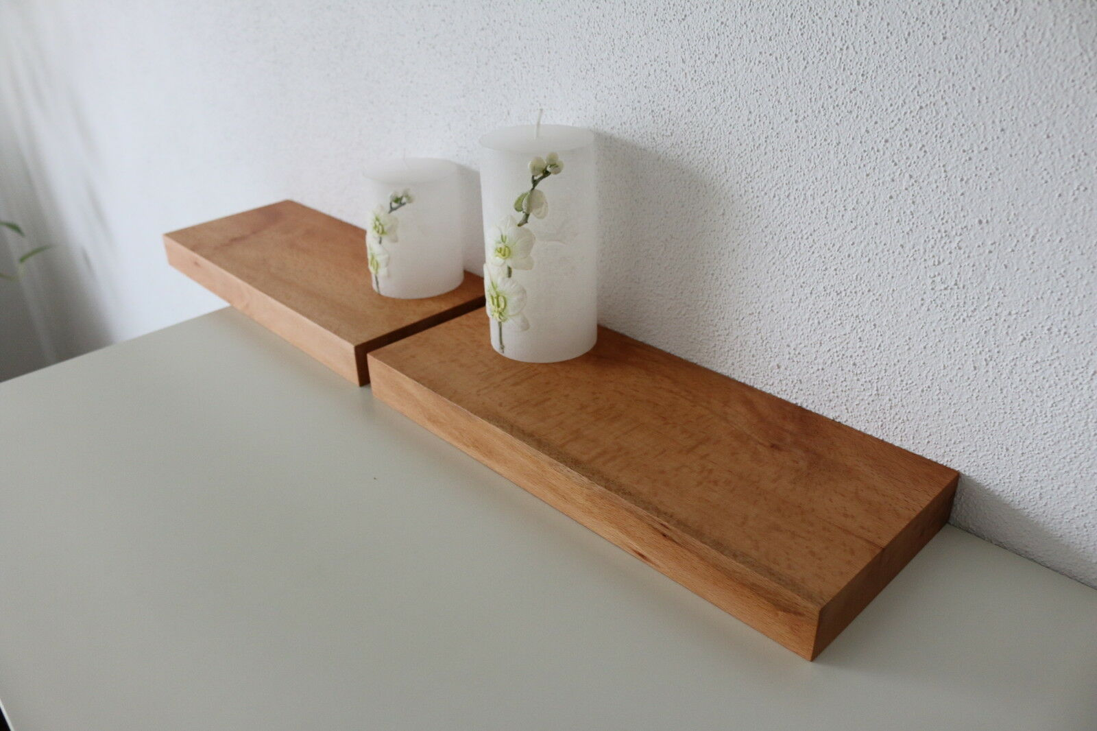 2x wandboard buche massiv holz board regal steckboard. Black Bedroom Furniture Sets. Home Design Ideas