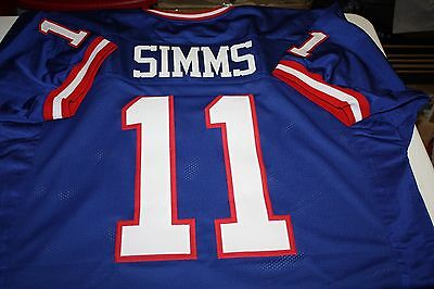 Phil Simms  11 Sewn Stitched Jersey Super Bowl Xxi Mvp Size Large