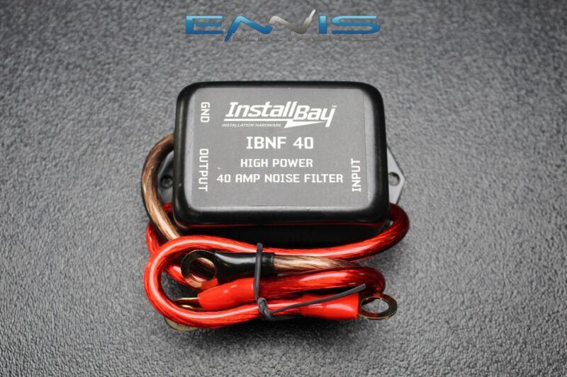 (1) NOISE FILTER 40 AMPS 12V HUM FILTER NOISE ENGINE SUPPRESSOR WIRE IBNF40