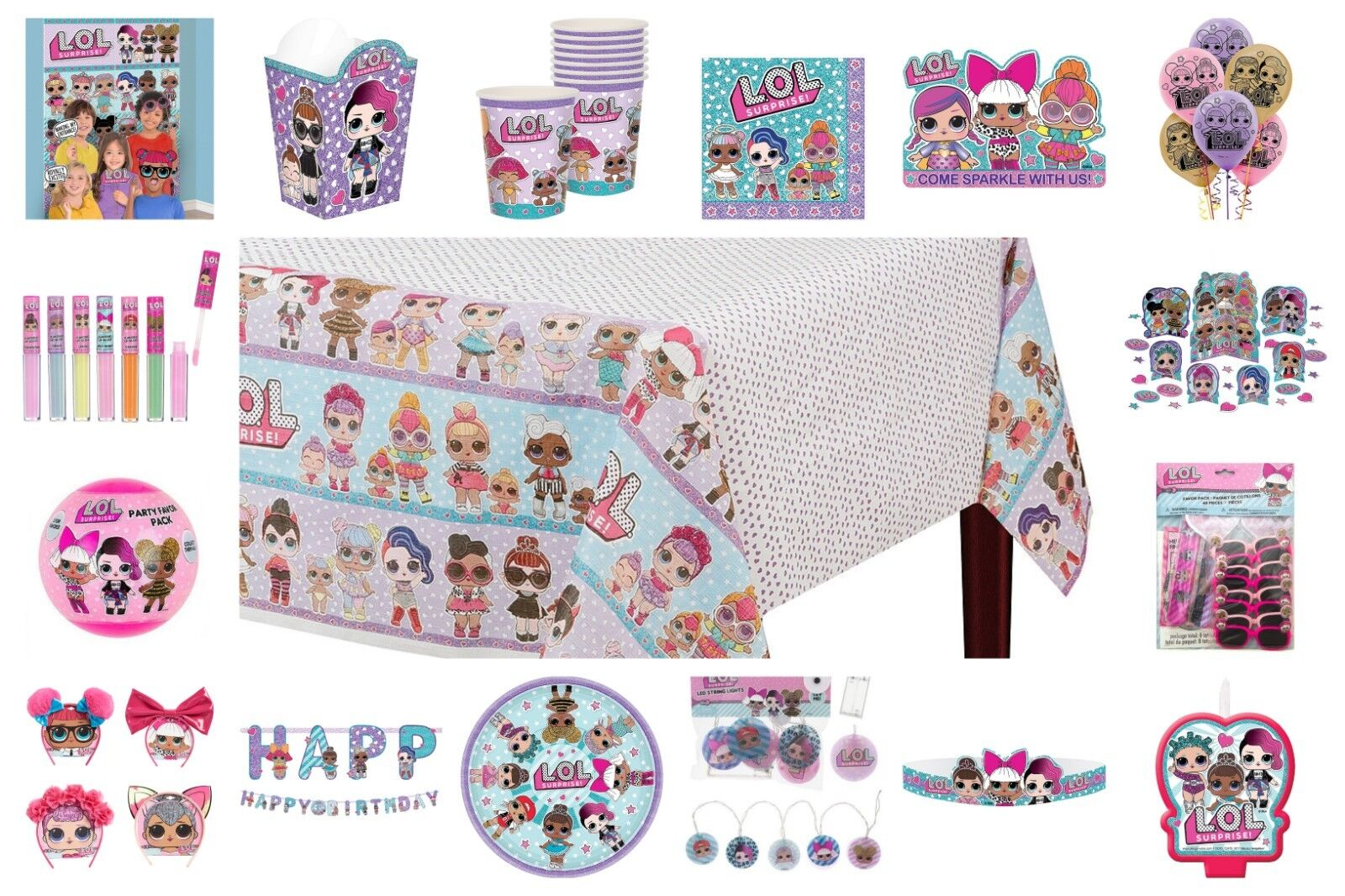 Lol Surprise Doll Birthday Party Supplies Favors Plates Deco