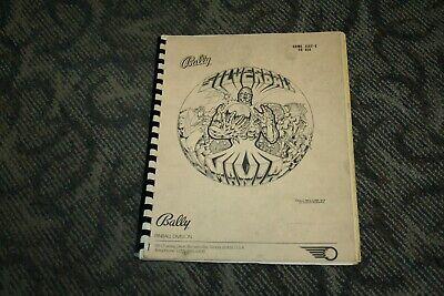 Bally Silverball Mania Pinball Manual (SEE PHOTOS)