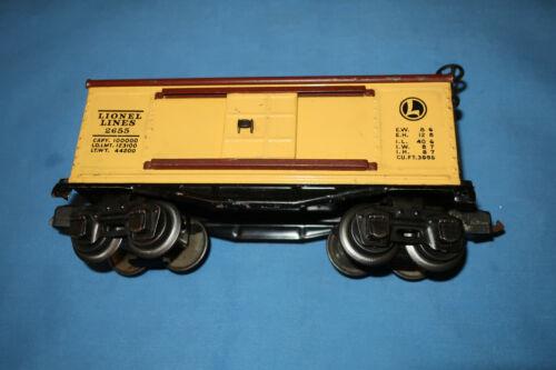 Lionel #2655 Pre-war O-Gauge Boxcar. Nice. Excellent Minus