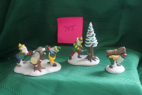 Dept. 56 Woodsmen Elves set of 3