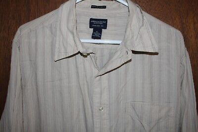 Extreme L/s Shirt - American Eagle Mens Shirt  AEO Sz XL Striped Button Up Extreme Slim Fit  L/S