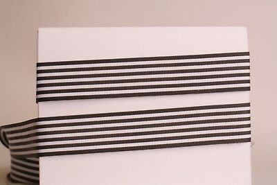 White Stripe Grosgrain (DARK BROWN White Stripes 1
