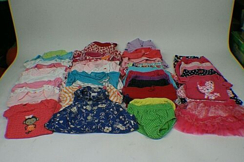 Lot Of Baby Girl Clothes 0-3 Months Spring And Summer Clothes 37 Total i3