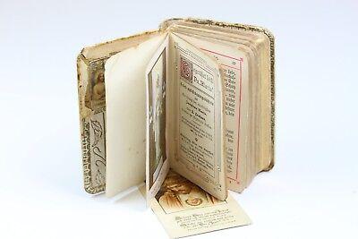 Antikes Gebetsbuch & Erbauungsbüchlein Kommunion 1890 Gold Dif11200 AVS15487 CC5