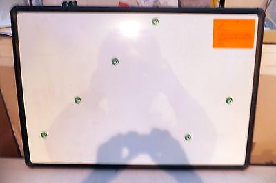 New Best Rite Magnetic White Board 3x2 Black Plastic Frame Wwaranty