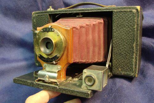 Kodak No.3 Model A Folding Brownie Camera Burgundy Bellows Serial # 9678F