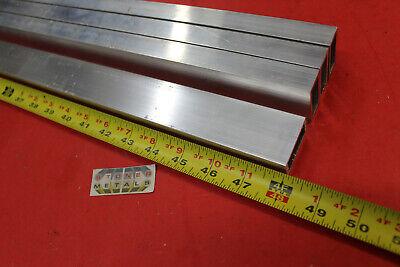 4 Pieces 34x 1-12x 18 Wall Aluminum Rectangle Tube 48 Long 6063 T52