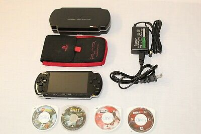 Sony PSP 3001 Playstation Portable System Console Bundle  W/ 4 Games Charge