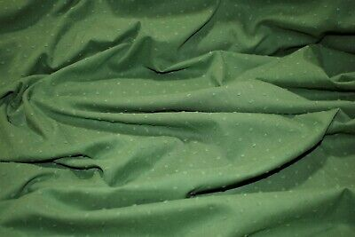 Olive Green Swiss Dot 100% Cotton Lawn Sheer Apparel Embroidered Fabric Woven Green Swiss Dot