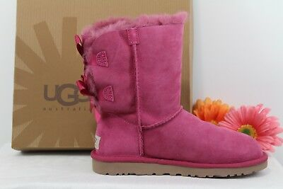 NIB AUTH UGGAustralia Womens Bailey Bow Victorian Pink Boots Sz 6 Shoes Sale ()
