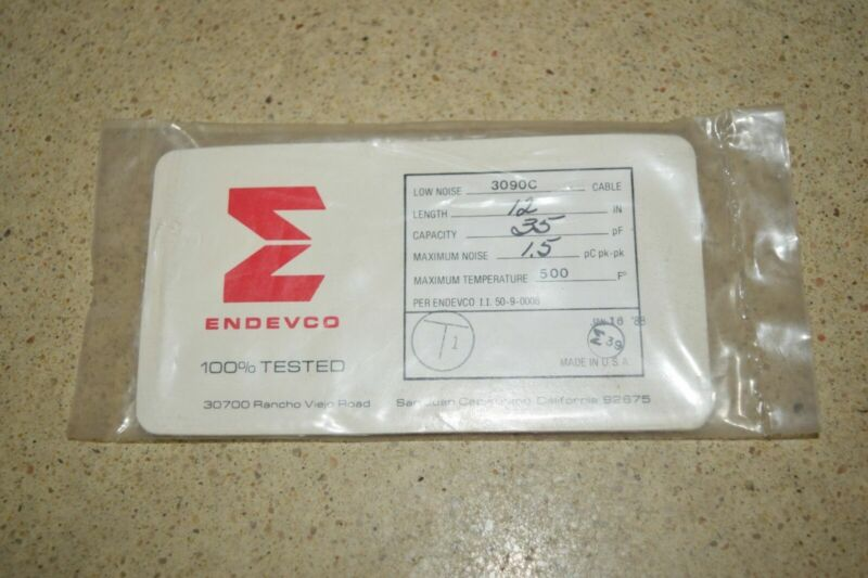 """ENDEVCO 3090C- 12"""" - 35pF- - 500?F ACCELEROMETER CABLE- NEW (#48)"""