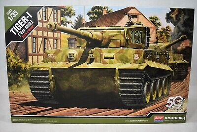 Academy Tiger-I Ver Mid German Heavy Tank 1/35 Scale Model Kit 13287