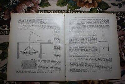 1907 Fragment Zeitschrift Bergbau / Bergwerk Glückauf Sarstedt
