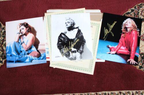 MADONNA  ORIGINAL (3) 8 X 10 SIGNED PHOTOGRAPH