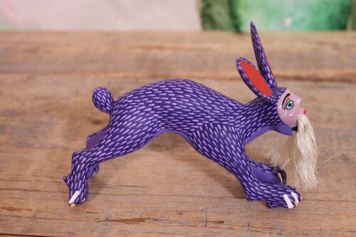 Alebrije Nagual Rabbit Purple Shapeshifter Handmade Oaxaca Mexican Folk Art